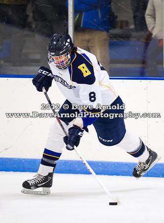 Tyler Hill (Hotchkiss - 8) - 2012 Flood-Marr Round Robin - Westminster Boys Varsity Hockey defeated Hotchkiss 3-1 on  December 14th, 2012, at Flood Rink in Dedham, Massachusetts.