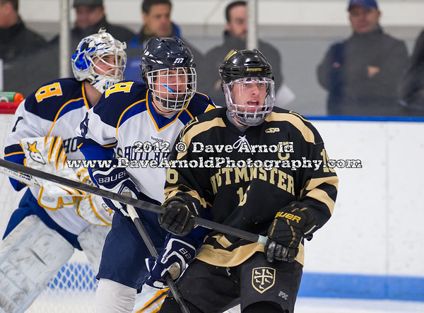 David Hallisey (Westminster - 16),  Scott Hooper (Hotchkiss - 16) - 2012 Flood-Marr Round Robin - Westminster Boys Varsity Hockey defeated Hotchkiss 3-1 on  December 14th, 2012, at Flood Rink in Dedham, Massachusetts.