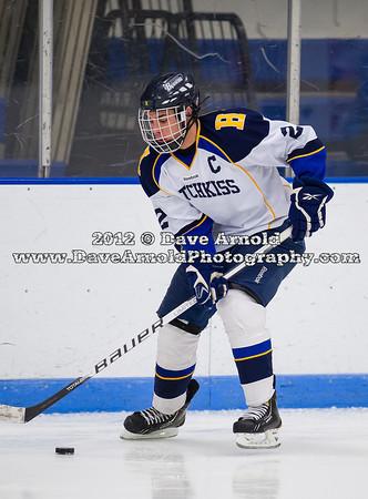 Hayden Lowry (Hotchkiss - 22) - 2012 Flood-Marr Round Robin - Westminster Boys Varsity Hockey defeated Hotchkiss 3-1 on  December 14th, 2012, at Flood Rink in Dedham, Massachusetts.