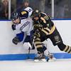 Matt Kobyra (Hotchkiss - 5),  Mario Benicky (Westminster - 24) - 2012 Flood-Marr Round Robin - Westminster Boys Varsity Hockey defeated Hotchkiss 3-1 on  December 14th, 2012, at Flood Rink in Dedham, Massachusetts.