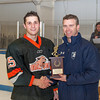 Nick Roberto (KU - 15) was named tournament MVP. Kimball Union Boys Varsity Hockey defeated Westminster 4-1 to win the 2012 Flood Marr Tournament on December 16, 2012, at Noble & Greenough in Dedham, Massachusetts