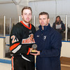 Brendan White (KU - 21) - Kimball Union Boys Varsity Hockey defeated Westminster 4-1 to win the 2012 Flood-Marr Tournament on December 16, 2012, at Noble & Greenough in Dedham, Massachusetts.