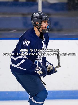 Jake Mercier (Nobles - 17) - 2012 Flood-Marr Round Robin - Noble & Greenough Boys Varsity Hockey defeated Deerfield Academy 3-2 on  December 14th, 2012, at Flood Rink in Dedham, Massachusetts.