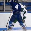 Tyler Wood (Nobles - 4),  Sam Lafferty (Deerfield - 9) - 2012 Flood-Marr Round Robin - Noble & Greenough Boys Varsity Hockey defeated Deerfield Academy 3-2 on  December 14th, 2012, at Flood Rink in Dedham, Massachusetts.