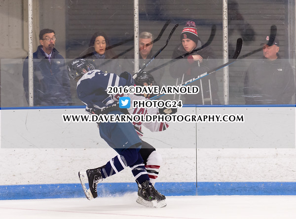 Boys Varsity Hockey: Nobles defeated Tabor 1-0 on December 9, 2015, at Noble & Greenough in Dedham, Massachusetts.