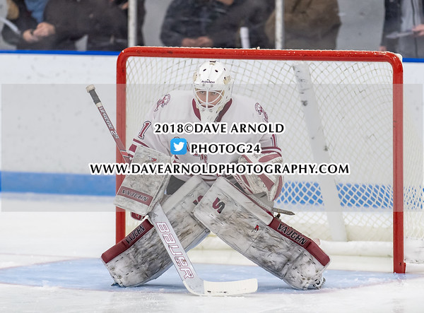 Boys Varsity Hockey: Flood-Marr - Salisbury defeated Kimball Union 3-0 on December 14, 2018 at Noble & Greenough in Dedham, Massachusetts.