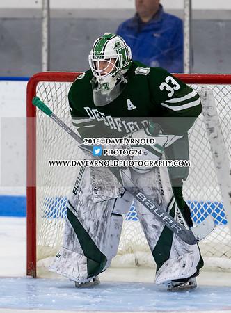 Boys Varsity Hockey: Flood-Marr - Deerfield defeated Hotchkiss 6-2 on December 16, 2018 at Noble & Greenough in Dedham, Massachusetts.