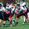 Belmont Hill's varsity football defeated St. Sebastian's 17-12 on October 15, 2011, at St. Sebastian's School in Needham, Massachusetts.