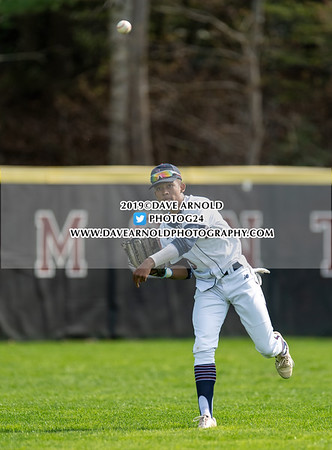 Varsity Baseball: Winchendon defeated Belmont Hill 7-1 on April 29, 2019 at the Belmont Hill School in Belmont, Massachusetts.