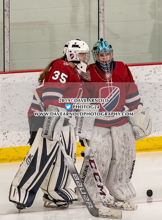 Girls Varsity Hockey: Southfield defeated Cushing 3-1 on February 15, 2019 at the Dexter-Southfield School in Brookline, Massachusetts.