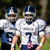 Thayer Varsity Football defeated Nobles 28-7 on October 13, 2012, at Thayer Academy, in Braintree, Massachusetts.