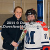 Head Coach Deanna McDevitt, Kaitlyn Stazinski (MA - 11) - Nobles defeated Milton 5-1 in the final regular season game on February 26, 2011, at Flood Rink in Dedham, MA.