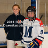 Maddy Gallagher (MA - 9), Head Coach Deanna McDevitt - Nobles defeated Milton 5-1 in the final regular season game on February 26, 2011, at Flood Rink in Dedham, MA.