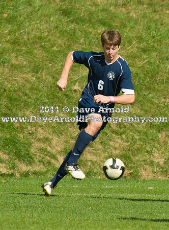 Nobles Boys Varsity Soccer defeated Roxbury Latin 2-0 on Saturday October 22th, 2011, at Noble & Greenough in Dedham, Massachusetts.