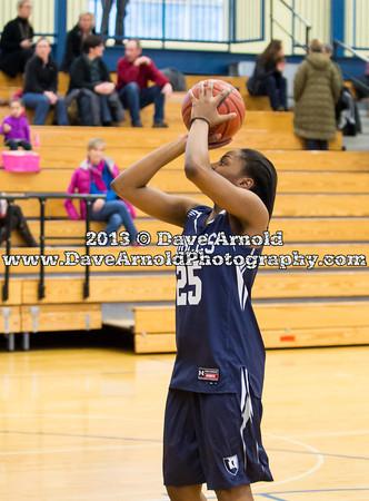 Nobles Girls Varsity Basketball defeated BB&N on February 12, 2013, at Noble & Greenough in Dedham, Massachusetts.