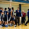 Nobles Boys Varsity Basketball defeated Roxbury Latin 59-46 on January 30, 2015 at Noble & Greenough in Dedham, Massachusetts.