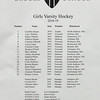 Girls Varsity Hockey: Brooks and Andover tied 1-1 on January 7, 2019 at Phillps Andover in Andover, Massachusetts.