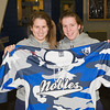 Taylor Blake (Nobles - 35), Michelle Picard (Nobles - 20) - Wearing their third jersey in honor of the the fundraiser for the the Massachusetts Soldiers Legacy Fund, Nobles Girls Varsity defeated Exeter 1-0 on January 22, 2010, at Flood Rink in Dedham, Massachusetts.