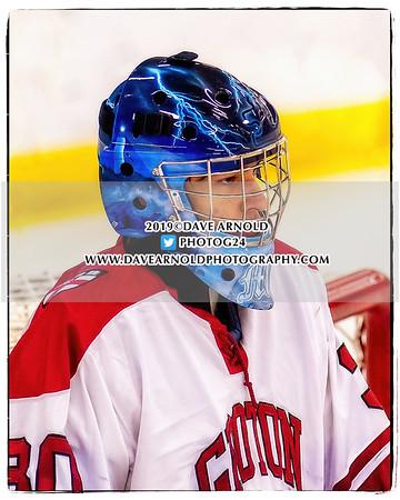 Boys JV Hockey:  Rivers defeated Groton 4-3 on January 16, 2019 at the Rivers School in Weston, Massachusetts.