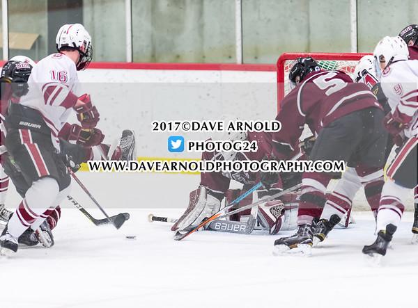 Boys Varsity Hockey - NEPSAC Elite 8 Qtr-Final: Dexter defeated Salisbury 4-2 on March 1, 2017 at the Dexter School in Brookline, Massachusetts.