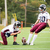 Belmont Hill Varsity Football defeated St. Sebastian's 9-7 on October 12, 2013, at St. Sebastian's School in Needham, Massachusetts.