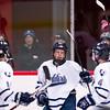 Nobles Boys Varsity Hockey defeated St. Sebastian's 4-0, on January 7, 2015,  at St. Sebastian's in Needham, Massachusetts.