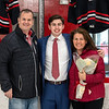 Boys Varsity Hockey: St. Sebastian's senior day pictures with their parents on February 27, 2021 at St. Sebastian's School in Needham, Massachusetts.