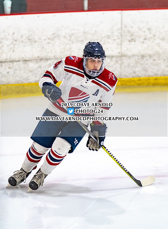 Boys Varsity Hockey: Dexter defeated Thayer 2-1 on January 18, 2019 at the Canton Sportsplex in Canton, Massachusetts.