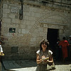 "Tory at the  ""Via Dolorosa"", the path where Jesus walked to the Cross."