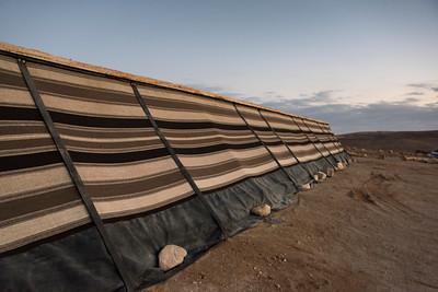 Tent in desert, Judean Desert, Dead Sea Region, Israel