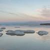 Salt island in Dead Sea, Israel