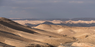 Road passing through a desert, Judean Desert, Dead Sea Region, Israel