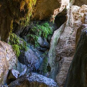 View of a cave, Dodim Cave, En Gedi Nature Reserve, Judean Desert, Dead Sea Region, Israel