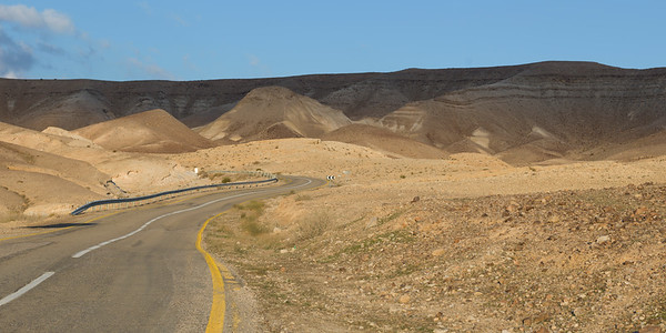Road passing through a desert, Judean Desert, Dead Sea Region, Israel