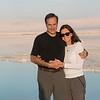 Portrait of mature couple smiling, Dead Sea, Israel