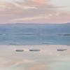 Salt islands in Dead Sea, Israel