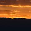 Clouds over mountain at dusk, Masada, Judean Desert, Dead Sea Region, Israel