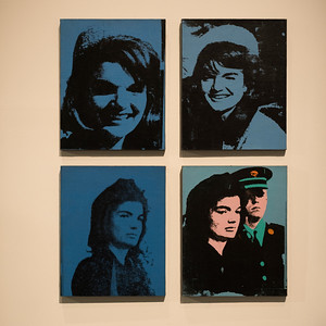 Paintings of Jacqueline Kennedy the First Lady by Andy Warhol, Israel Museum, Jerusalem, Israel