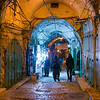 Tourists in in Arab Market, Old City, East Jerusalem, Israel