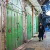 People walking in street market, Old City, Jerusalem, Israel