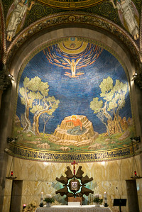 Painting of bedrock where Jesus is believed to have prayed, Church of all Nations, Jerusalem, Israel