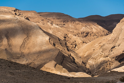 Rock formations in desert, Negev Desert, Israel