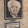 Paintings of David Ben-Gurion mounted on wall, Sde Boker, Negev Desert, Israel