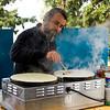 Jewish man preparing crepe, Safed, Northern District, Israel