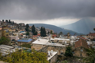 Buildings in old city, Safed, Northern District, Israel