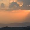 Sunrise over landscape, Vered HaGalil, Galilee, Israel