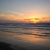 Scenic view of the beach at dusk, Tel Aviv, Israel