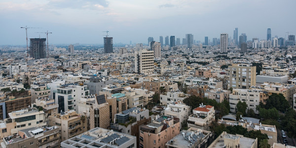 Elevated view of cityscape, Tel Aviv-Yafo, Tel Aviv, Israel