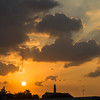 Low angle view of clouds at sunset, Tel Aviv, Israel