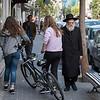 People on sidewalk, Tel Aviv, Israel